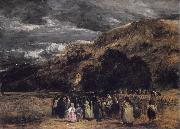 David Cox A Welsh Funeral oil painting artist